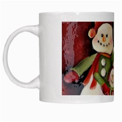 Snowman Family No. 2 White Mugs