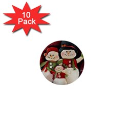 Snowman Family No. 2 1  Mini Buttons (10 pack)