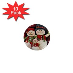 Snowman Family No. 2 1  Mini Magnet (10 pack)