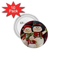 Snowman Family No. 2 1.75  Buttons (10 pack)