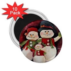 Snowman Family No. 2 2.25  Magnets (10 pack)