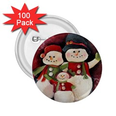 Snowman Family No. 2 2.25  Buttons (100 pack)