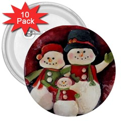 Snowman Family No. 2 3  Buttons (10 pack)