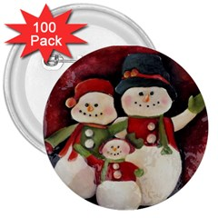 Snowman Family No. 2 3  Buttons (100 pack)