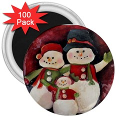Snowman Family No. 2 3  Magnets (100 pack)