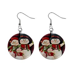 Snowman Family No. 2 Mini Button Earrings