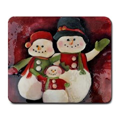 Snowman Family No. 2 Large Mousepads
