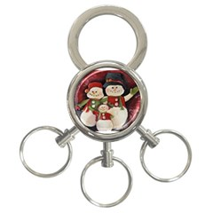 Snowman Family No. 2 3-Ring Key Chains