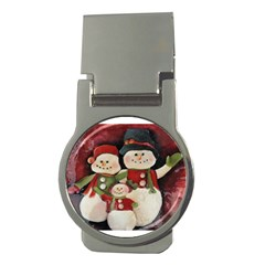 Snowman Family No. 2 Money Clips (Round)