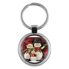 Snowman Family No. 2 Key Chains (Round)