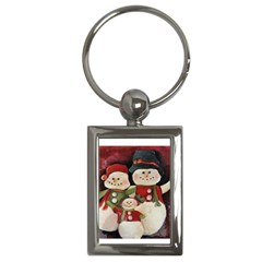 Snowman Family No. 2 Key Chains (Rectangle)