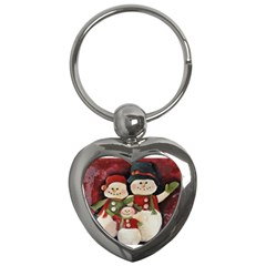 Snowman Family No. 2 Key Chains (Heart)