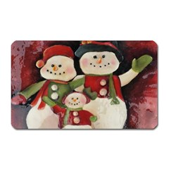 Snowman Family No. 2 Magnet (Rectangular)
