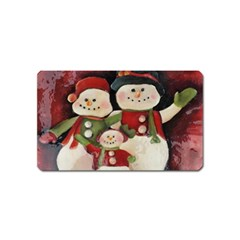Snowman Family No. 2 Magnet (Name Card)