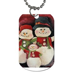 Snowman Family No. 2 Dog Tag (One Side)