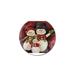 Snowman Family No. 2 Golf Ball Marker (4 pack)