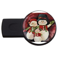 Snowman Family No. 2 USB Flash Drive Round (2 GB)