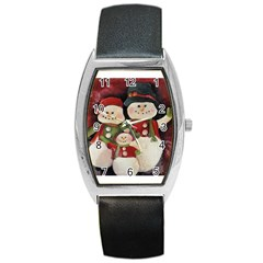 Snowman Family No. 2 Barrel Metal Watches