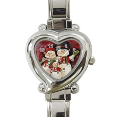Snowman Family No. 2 Heart Italian Charm Watch