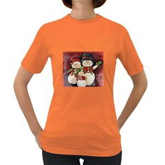Snowman Family No. 2 Women s Dark T-Shirt