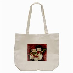 Snowman Family No. 2 Tote Bag (Cream)