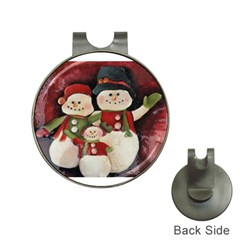 Snowman Family No. 2 Hat Clips with Golf Markers