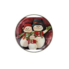 Snowman Family No. 2 Hat Clip Ball Marker