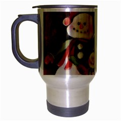 Snowman Family No. 2 Travel Mug (Silver Gray)