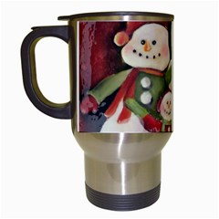 Snowman Family No. 2 Travel Mugs (White)