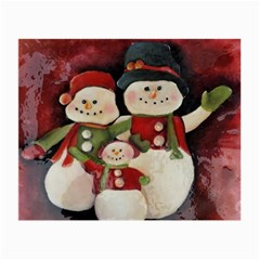 Snowman Family No. 2 Small Glasses Cloth