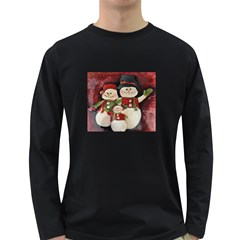 Snowman Family No. 2 Long Sleeve Dark T-Shirts