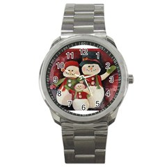 Snowman Family No. 2 Sport Metal Watches