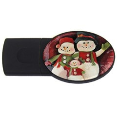 Snowman Family No. 2 USB Flash Drive Oval (4 GB)