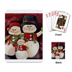 Snowman Family No. 2 Playing Card