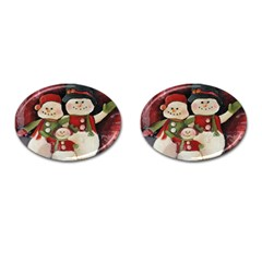 Snowman Family No. 2 Cufflinks (Oval)