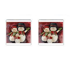 Snowman Family No. 2 Cufflinks (Square)