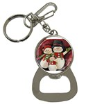 Snowman Family No. 2 Bottle Opener Key Chains Front