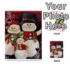 Snowman Family No. 2 Playing Cards 54 Designs