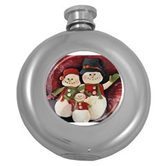 Snowman Family No. 2 Round Hip Flask (5 oz)