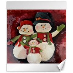 Snowman Family No. 2 Canvas 8  x 10