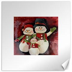 Snowman Family No. 2 Canvas 12  x 12