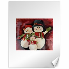 Snowman Family No. 2 Canvas 12  x 16