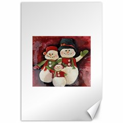 Snowman Family No. 2 Canvas 12  x 18