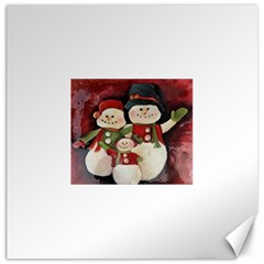 Snowman Family No. 2 Canvas 16  x 16