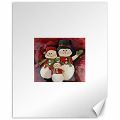Snowman Family No. 2 Canvas 16  x 20