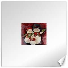 Snowman Family No  2 Canvas 20  X 20