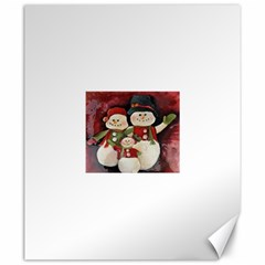Snowman Family No. 2 Canvas 20  x 24