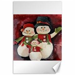 Snowman Family No. 2 Canvas 24  x 36