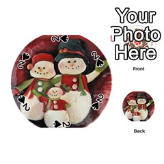 Snowman Family No. 2 Playing Cards 54 (Round)