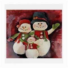Snowman Family No. 2 Medium Glasses Cloth (2-Side)